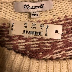 NWT Madewell oversized sweater